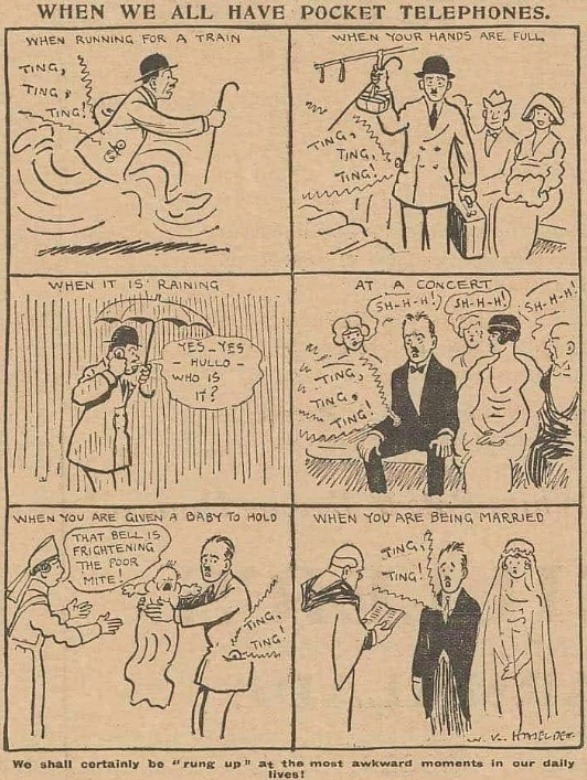 Offbeat News: 1923 Cartoon Warns About Pocket Telephones